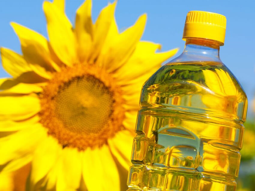 Russian sunflower oil production
