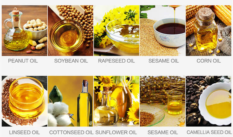 oil products made by the automatic oil expeller