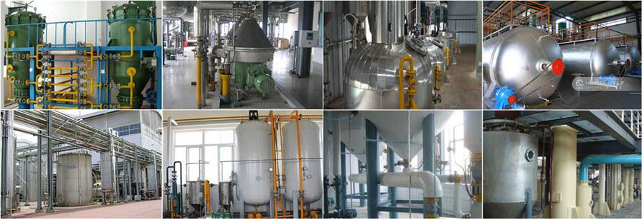 Équipement de raffineage d'huile
